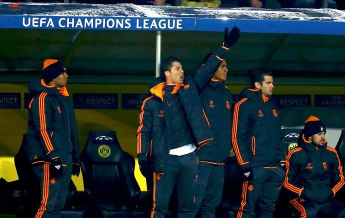 Cristiano Ronaldo no banco de reservas, Borussia Dortmund x Real Madrid (Foto: Reuters)