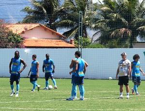 jogadores no treino do Botafogo em Saquarema (Foto: Fred Huber / Globoesporte.com)