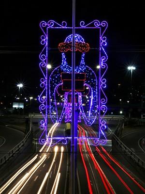 Peça decorativa segue projeto vencedor em concurso promovido pela Prefeitura (Foto: Alex Régis)