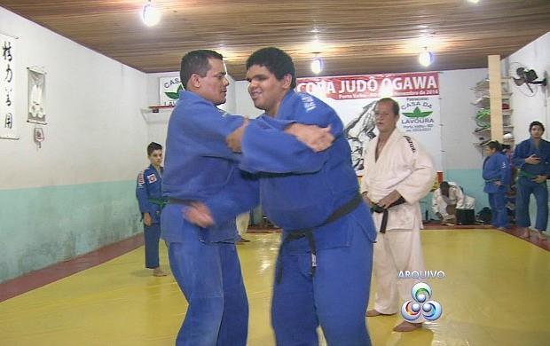 Judoca paralímpico rondoniense conquista bronze em GP do Brasil (Foto: Globo Esporte)