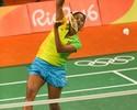 Brasileira Lohaynny Vicente perde a segunda e é eliminada no badminton