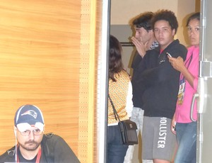 Breno, neto de Jayme de Almeida, no Maracanã (Foto: Fred Gomes/GloboEsporte.com)