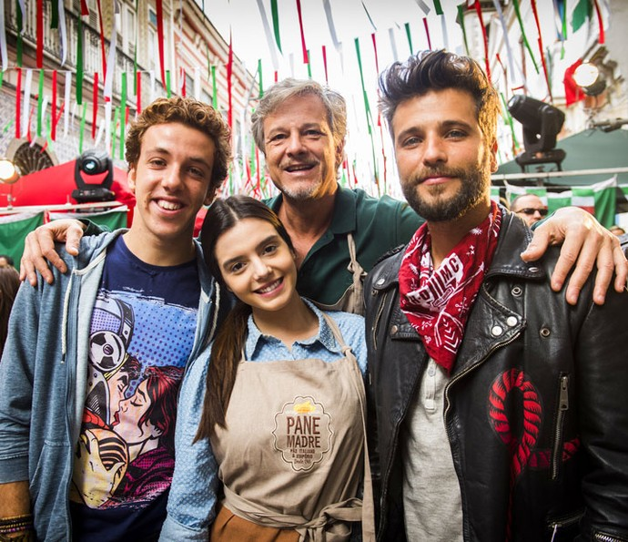 Em 'Sol Nascente', Vittorio é pai de Peppino, Milena e Mario (Foto: João Miguel Júnior/Globo)