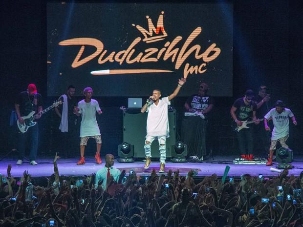 MC Duduzinho em show na Zona Norte do Rio (Foto: Renato Moura/ Divulgação)