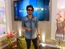 Chay Suede nos bastidores do Encontro (Foto: Encontro com Fátima Bernardes/TV Globo)