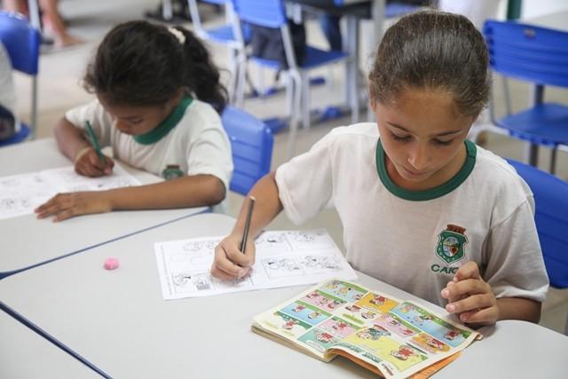 Escola de Ensino Fundamental José de Alencar, em Messejana, recebe o 3º Dia Temático Amigos da Escola em Fortaleza (Foto: Assessoria Sistema Verdes Mares)