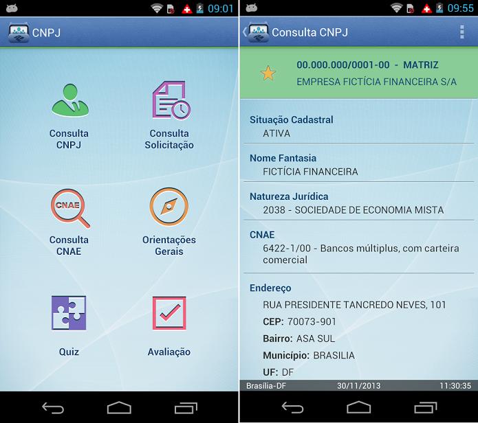 CNPJ é um app para consultar informações sobre CNPJ nas bases de informações da Receita Federal (Foto: Divulgação)