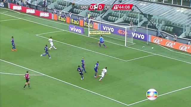 Santos vence o Cruzeiro por 1 a 0 no Campeonato Brasileiro (Foto: Reprodução/TV Tribuna)