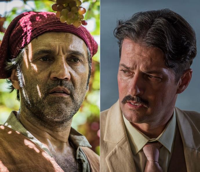 Santo será vivido por Domingos Montagner, e Carlos Eduardo por Marcelo Serrado, na segunda fase da novela (Foto: Caiuá Franco/ Globo)