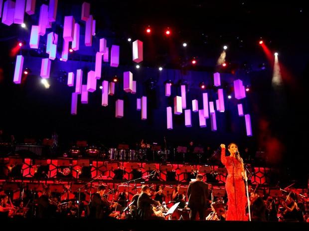 Ivete Sangalo dividiu palco com a Orquestra Juvenil da Bahia (Foto: Carol Garcia/GOVBA)