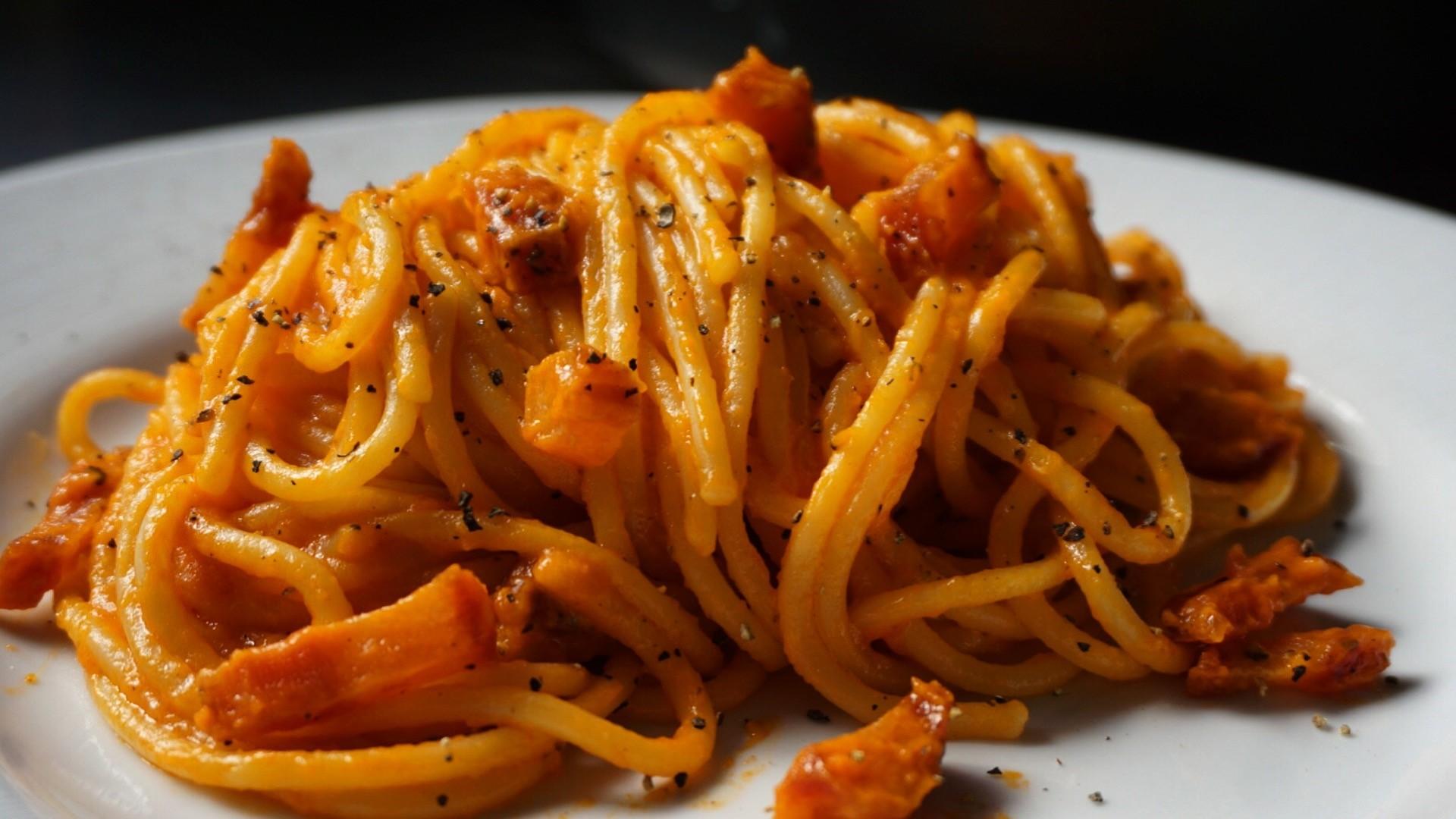 Spaghetti all'Amatriciana (Foto: André Lima de Luca)