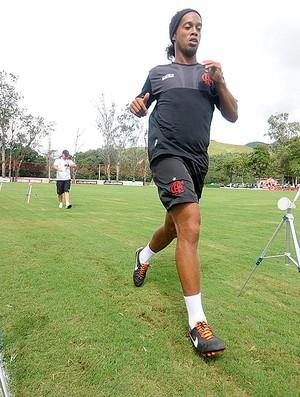 Ronaldinho, Treino do Flamengo (Foto: Alexandre Vidal / Fla Imagem)