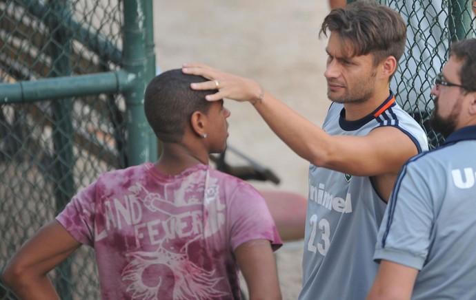 Rafael Sobis e Robert treino Fluminense (Foto: Moyses Ferman/Agência Eleven)