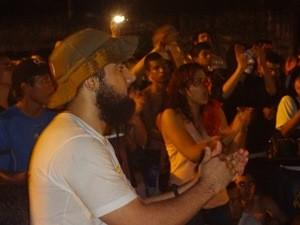 Ricardo Silva convocou manifestantes para uma nova passeata, nesta quinta, 20. (Foto: Gil Sóter/ G1 PA)