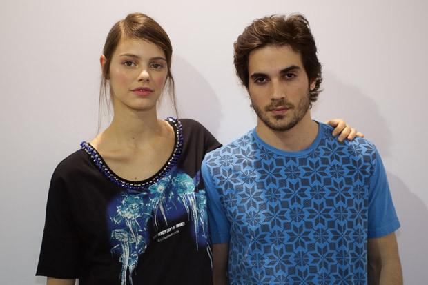 Laura Neiva e Fiuk na 2nd Floor SPFW Inverno 2015 (Foto: Andr Bittencourt)