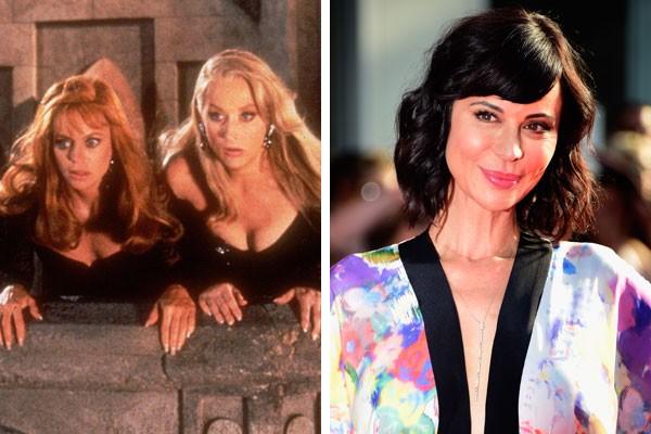 As atrizes Meryl Streep e Isabella Rossellini em A Morte Lhe Cai Bem (1992) e a atriz Catherine Bell, que serviu como dublê de corpo para elas (Foto: Reprodução/Getty Images)