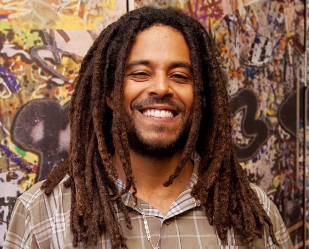 Pra quem curte dreads, tem o Luiz da banda Vibrações (Foto: Fabiano Battaglin / Gshow)