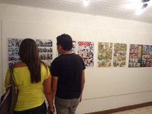 Público pode conferir uma exposição de artistas paraenses (Foto: Ingo Müller / G1)