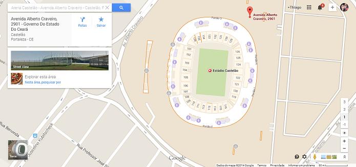 Estádio Governador Plácido Castelo é o Castelão (Foto: Thiago Barros/Reprodução)