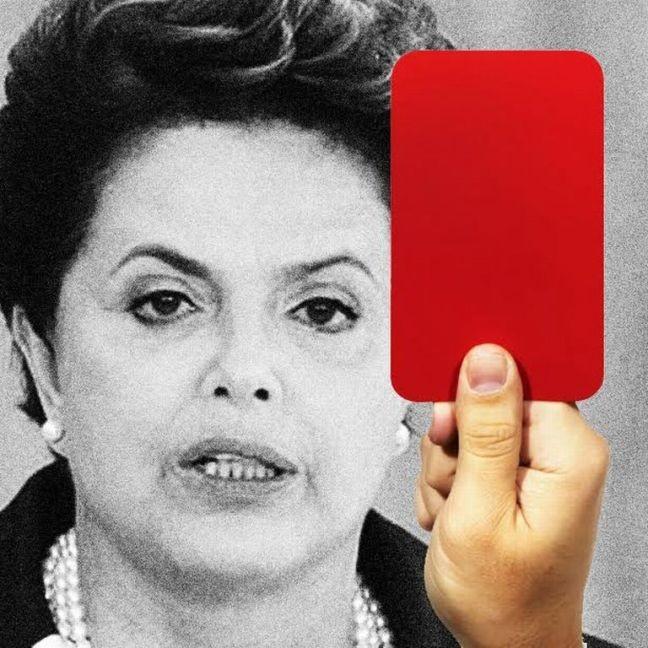 Cartão vermelho Dilma (Foto: Arte: Antonio Lucena)