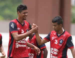 Levy, Kiros e Léo Paraíba no amistoso do Remo contra o Castanhal (Foto: Claudio Pinheiro/O Liberal)