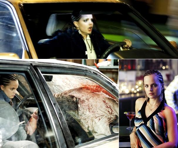 Após acidente, Brandi (Mena Suvari) hesita em pedir ajuda, no filme 'Em Rota de Colisão' (Foto: Divulgação)