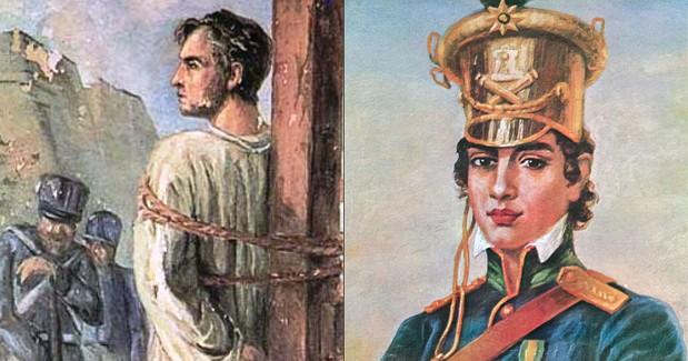 Retrato de Frei Caneca à esq. e de Maria Quitéria à direita (Foto: Wikimedia Commons)