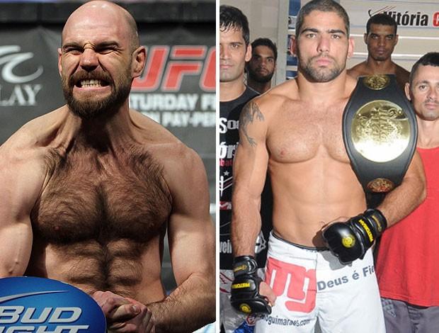 """Dan Stittgen e Marcelo """"Magrão"""" Guimarães, MMA (Foto: Getty Images / Site do senador Magno Malta)"""