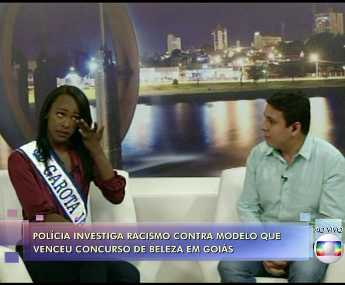 Taiana chora no 'Encontro' (Foto: TV Globo)