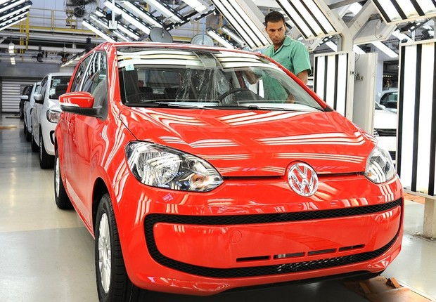 Produção de veículos da Volkswagen no Brasil (Foto: Divulgação/Volkswagen)
