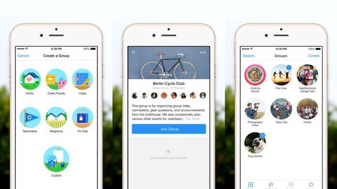 Crie, gerencie e descubra novos grupos com o Facebook Groups (Foto: Divulgação/AppStore)