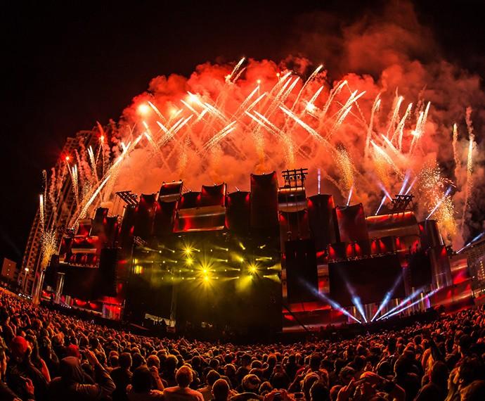 A primeira edição do Rock in Rio nos Estados Unidos aconteceu em Las Vegas (Foto: Divulgação)