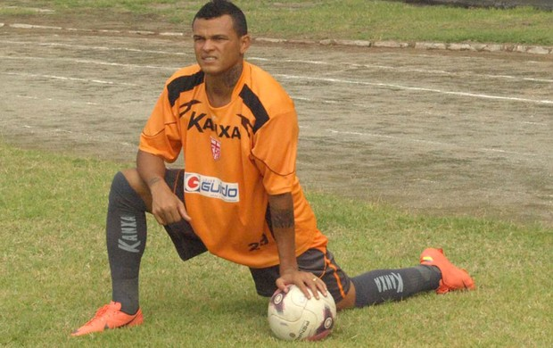 Gleidson, treino Crb (Foto: Divulgação)