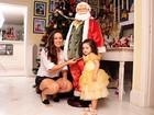 Tânia Mara e Maysa enfeitam a árvore de Natal da família