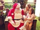 Ticiane Pinheiro leva a filha, Rafaella Justus, para falar com Papai Noel