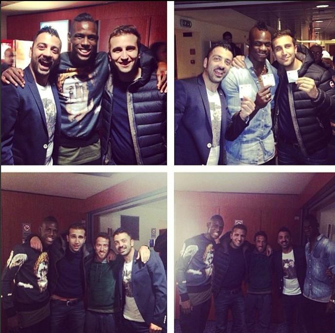 Balotelli e amigos em Milão (Foto: Reprodução / Instagram)