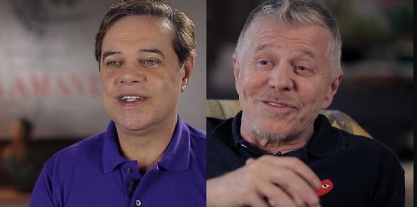 Diogo Vilela e Miguel Falabella relembram os tempos do besteirol dos anos 80 na série do canal a cabo Viva (Foto: Reprodução)
