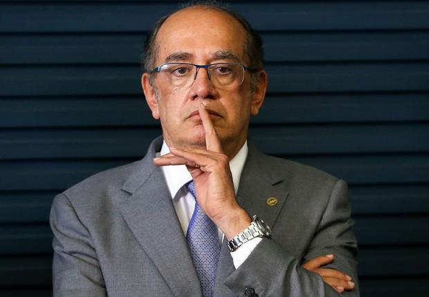O presidente do Tribunal Superior Eleitoral (TSE), Gilmar Mendes, participa do lançamento do Siele - Sistema de Informações Eleitorais (Foto: Marcelo Camargo/Agência Brasil)