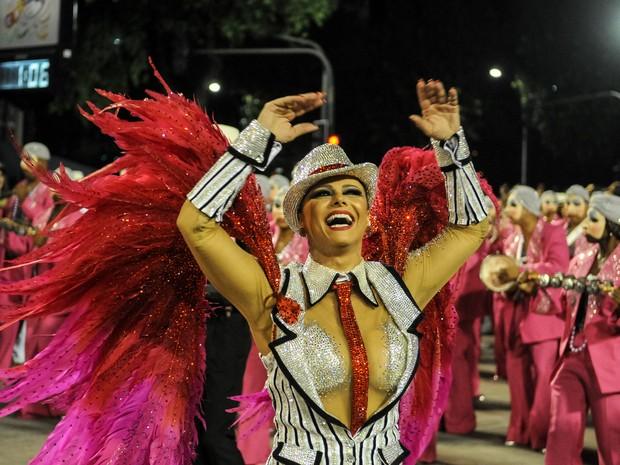 Viviane Araújo é a rainha de bateria do Salgueiro desde 2008 (Foto: G1/Alexandre Durão)