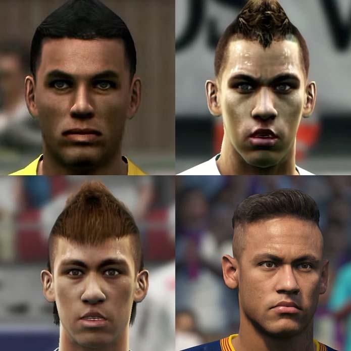 Neymar estreou com versão genérica em Pro Evolution Soccer (Foto: Reprodução/Murilo Molina)