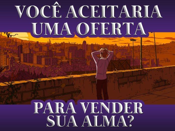 Soul Gambler é um game brasileiro que brinca com a obra literária Fausto, de Goethe (Foto: Divulgação)