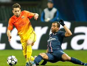 Lucas jogo PSG Barcelona (Foto: Reuters)