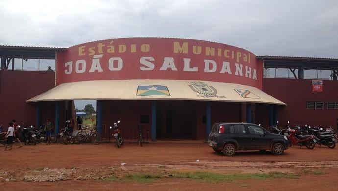 Estádio João Saldanha em Guajará-Mirim, RO (Foto: Dayanne Saldanha)
