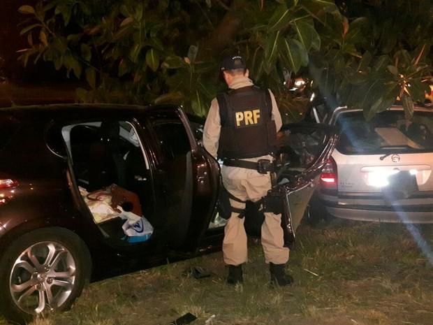 Acidente ocorreu no km 111 da BR-290 em Eldorado do Sul (RS), nesta quarta (1) (Foto: PRF/Divulgação)