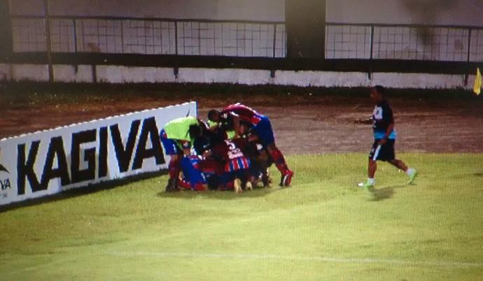 União ABC vence Costa Rica de virada no Morenão (Foto: Reprodução/TV Morena)