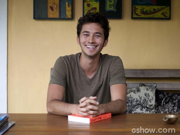 Gabriel Falcão tem um blog, onde publica suas criações literárias (Foto: Malhação/ TV Globo)