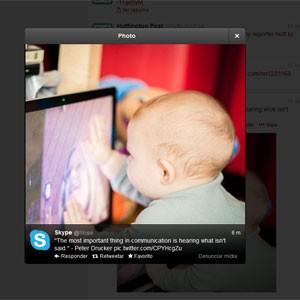 Agora, usuários podem abrir fotos maiores sem sair da página (Foto: Reprodução)