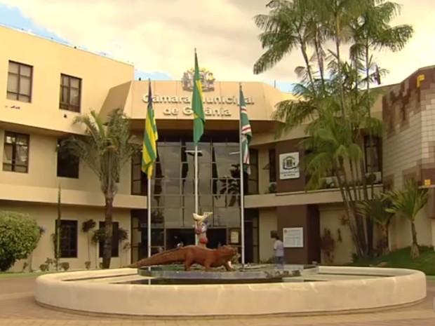 Câmara Municipal de Goiânia, Goiás (Foto: Reprodução/ TV Anhanguera)