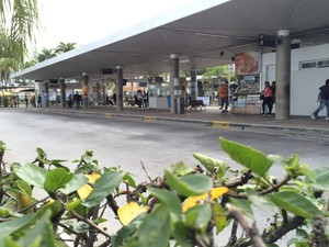 Movimentação era baixa no Ticen por volta das 9h (Foto: João Salgado/RBS TV)