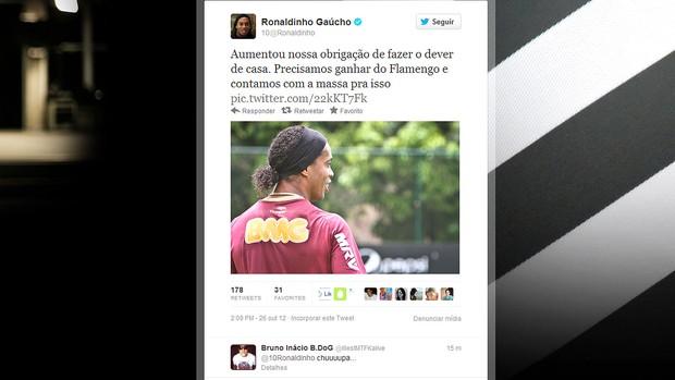 Twitter Ronaldinho Gaucho (Foto: Reprodução / Twitter)